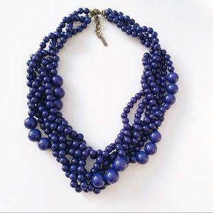 Baublebar Bubblestream Statement Necklace Navy